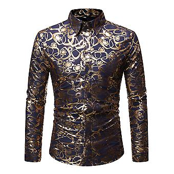 Allthemen Men's Shirt Floral Printed Four Seasons Long Sleeve Shirt