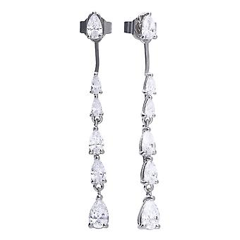 Diamonfire Cubic Zirconia Long Teardrop Earrings E5781