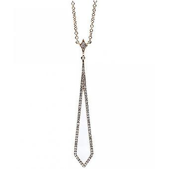 Diamantcollier  Collier - 14K 585/- Rotgold - 0.19 ct.