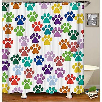 Tenda della doccia per cani colorati