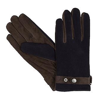 Bugatti gants hommes gants en daim de laine marine/bleu 8353
