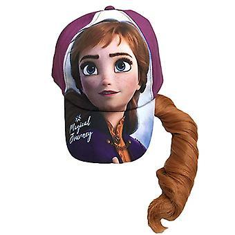 Baseball Cap-Disney-frosne 2 Anna w/hår magisk rejse lilla ny 410343