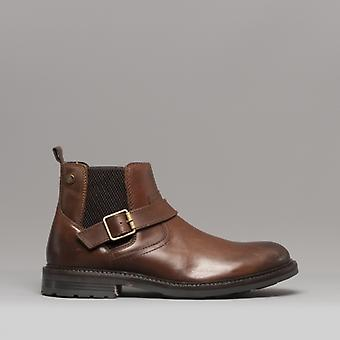 Base Londra Morrow Erkek Deri Chelsea Boots Burnished Tan