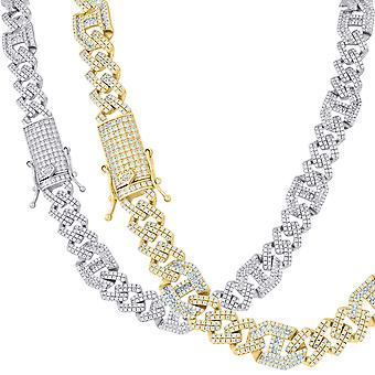 Premium bling Sterling 925 silver Chain-KUBANSKA 10mm