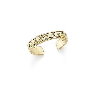 14k Yellow Gold X and O Toe Ring Jewelry Gifts for Women - 1.4 Grams