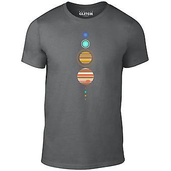 Men's einfache Solaranlage T-shirt
