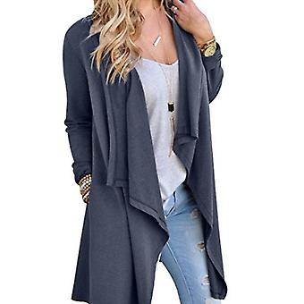 Vincenza femmes-apos;s casual asymétrique drape ouvert à manches longues tuniques cascade cardigan outwear