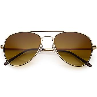 Klasyczne metalowe małe okulary przeciwsłoneczne aviator dla kobiet mężczyzn Gradient Lens 53mm