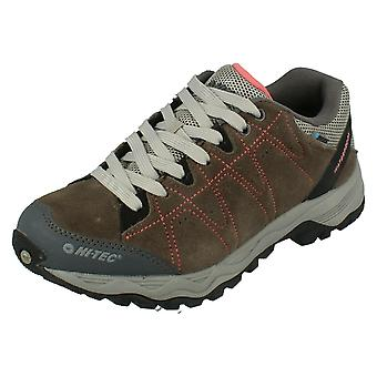 Dames Hi-Tec Walking Shoes libero II WP Womens-houtskool/bloesem Suede-UK maat 6-EU maat 39-US maat 8