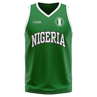Nigeria Home Concept Basketball Shirt - Kids