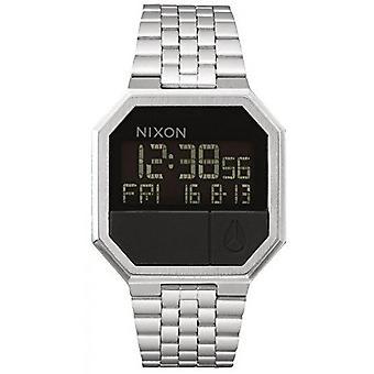 Relógio Nixon A158-000-00-RE-RUN pulseira de aço prata Bo Tier aço Carr homens/mulheres