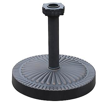 Outsunny Garden 19kg Round Umbrella Base Backyard Parasol Weight Stand Holder Patio Outdoor Bronze Heavy Duty Patterned