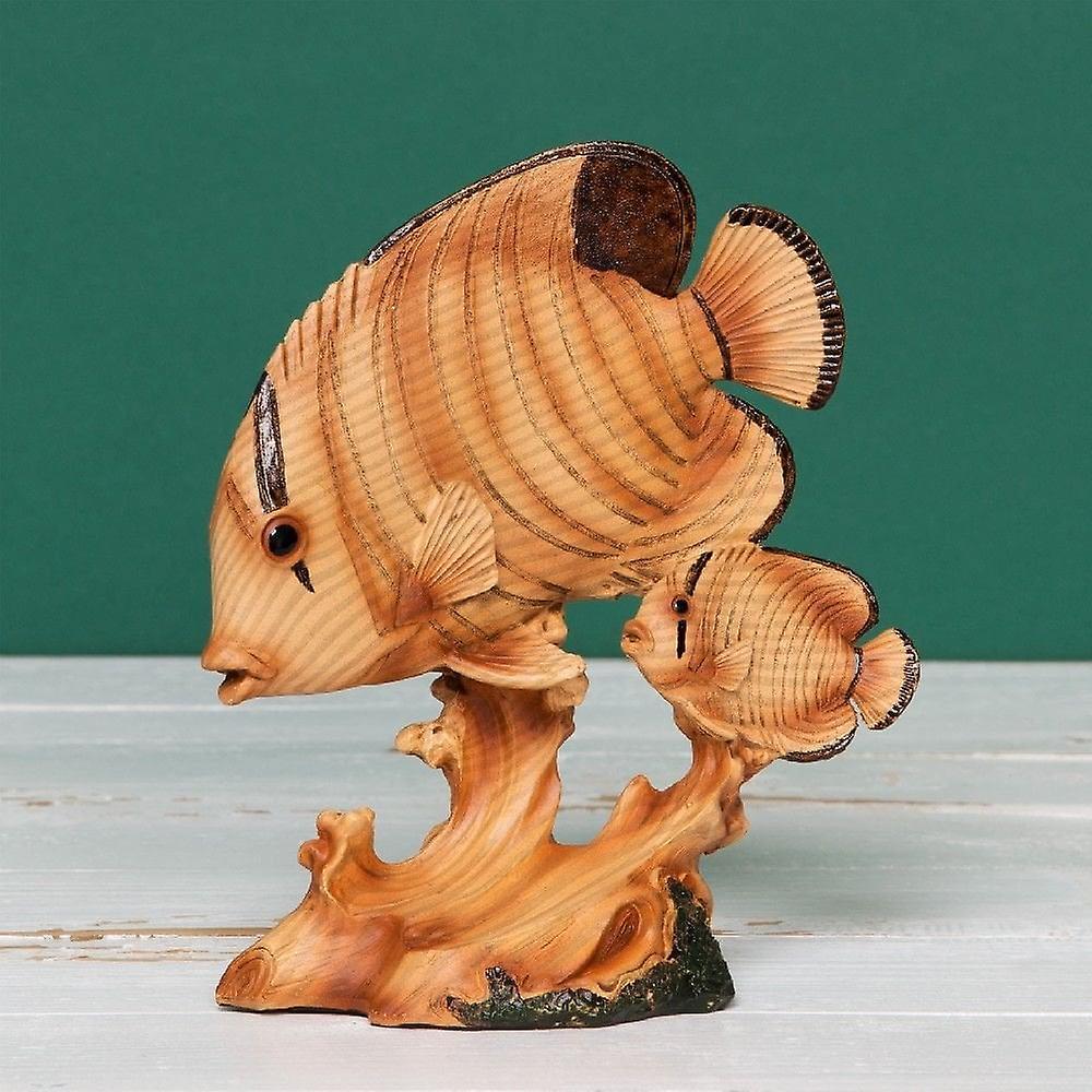 Widdop Bingham Wood Effect Resin Figurine - Fish