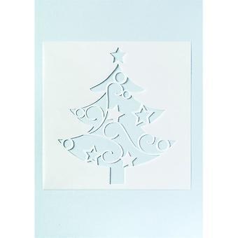Estêncil da árvore de Natal da estrela do bolo para o bolo cheio