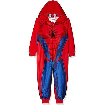 Boys HS2056 Marvel Spiderman Felpa In cappuccio Tute in fleece / Un pezzo Pigiama