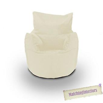 Beige Cotton Children's Kids Peuters Gevulde zitstoel Bean Bag Stoel met bonen