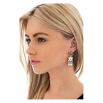 Darcy Aztec Earrings In Blue
