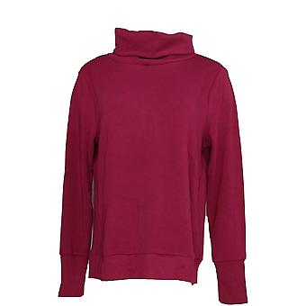 Anybody Women's Top Plush Terry Cowl-Neck Purple A345169