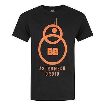 スター・ウォーズ フォースの覚醒 BB-8 アストロメック ドロイド 黒人男性's Tシャツ
