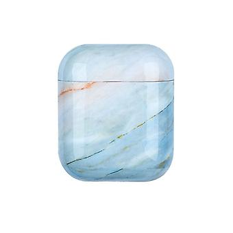Protection case for AirPods - Light Blue Marble