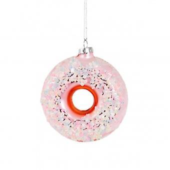 Sass & Belle Sugar-Coated Donut vormige kerstball