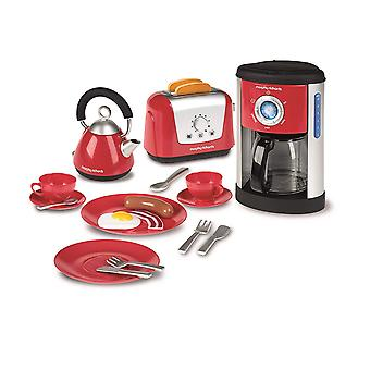 Casdon Morphy Richards Kitchen Set Red Pretend Play Kitchen Toy Ages 3 Years+