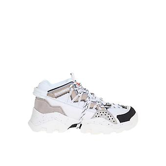 Kenzo F965sn300l6993 Hombres's Zapatillas de Cuero Gris
