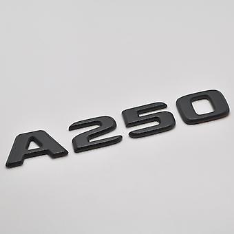 Matt Black A250 Flat Mercedes Benz Car Model Rear Boot Number Letter Sticker Decal Badge Emblem For A Class W176 W177 AMG