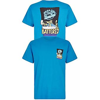 WEIRD FISH Weird Fish Battered Print T Shirt