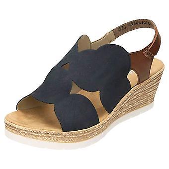 Rieker Slingback Wedge Heel Platform Sandals 61919-14 Open Toe