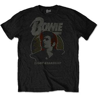 David Bowie Vintage Ziggy Stardust Official Tee T-Shirt Mens Unisex