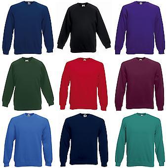 Vrucht van de Loom Childrens/Kids Unisex Raglan mouwen Sweatshirt