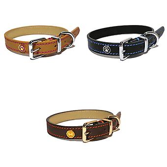 Rosewood Luxury Leather Dog Collar