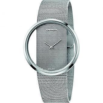 Calvin Klein K9423T27 Ladies Glam Collection Silver Tone Mesh Wristwatch