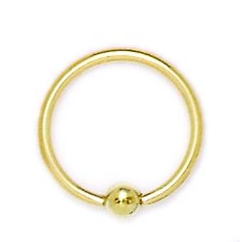 14k Yellow Gold 16 Gauge Circular Body Piercing Jewelry Bead Ring Measures 14x14mm Jewelry Gifts for Women