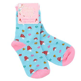 Once Upon A Time Childrens/Kids Flower Toadstool Socks