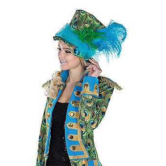 Meneur de jeu Peacock chapeau accessoires Carnaval Halloween