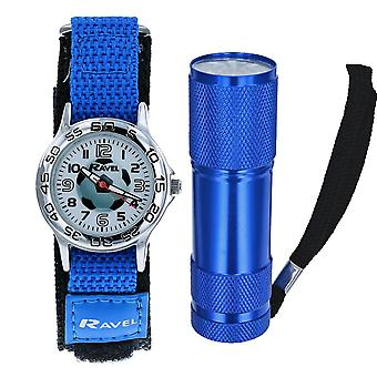 Ravel Football Watch ja Micro Torch pojat Gift Set R4402a