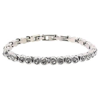"""The Olivia Collection Clear Rhinestone Set 7"""" Tennis Bracelet"""