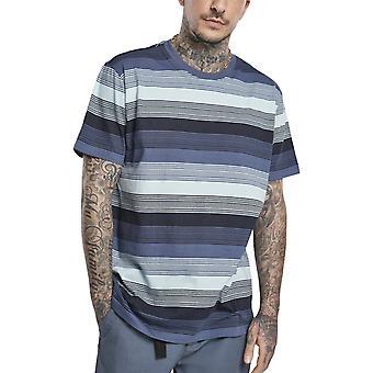 الكلاسيكية الحضرية - الغزل الدامع شروق الشمس Stripe قميص خمر الأزرق