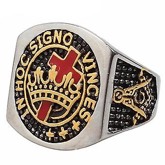 In hoc signo vinces knights templar ring