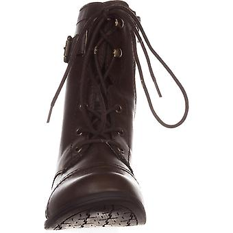 American Rag Fionn Lace-Up Combat Boots 9m Brown