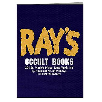 Rays Occult Books Ghostbusters Greeting Card