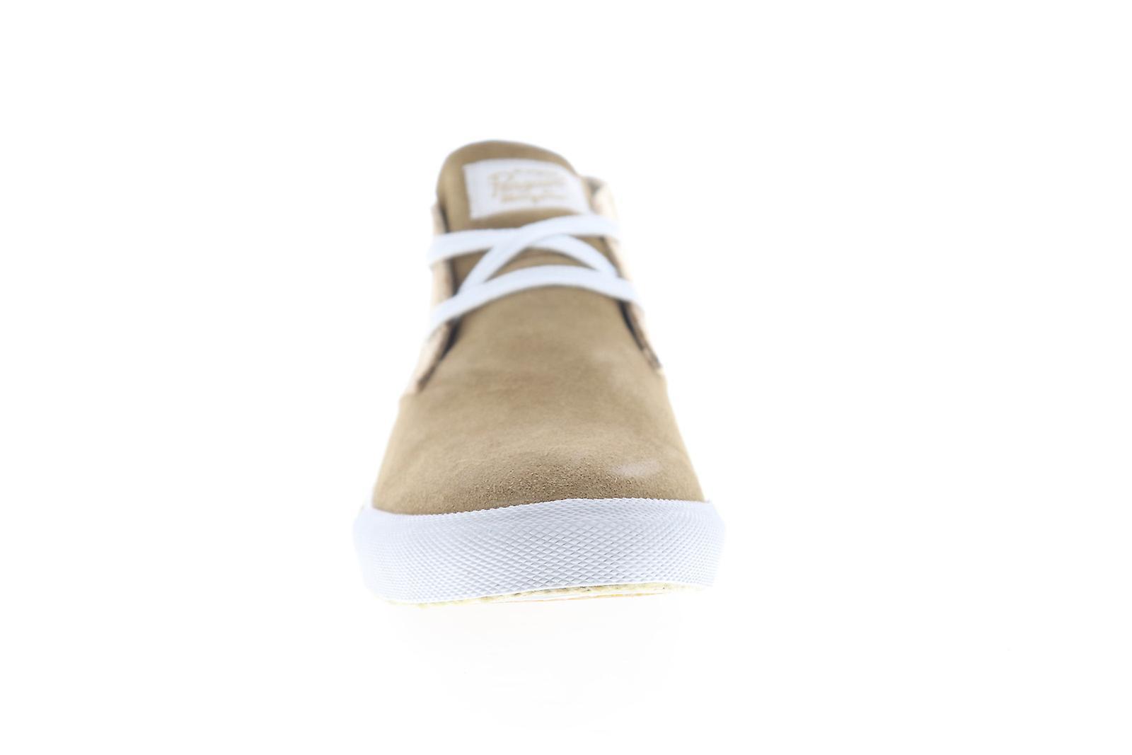 Original Penguin Rupert Mens Brown Suede Low Top Sneakers Chaussures