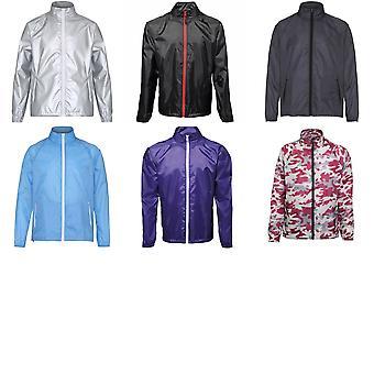 2786 Mens Contrast Lightweight Windcheater Shower Proof Jacket (Pack of 2)