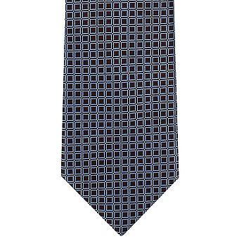 Michelsons London klassische Grid Polyester Krawatte - Wein