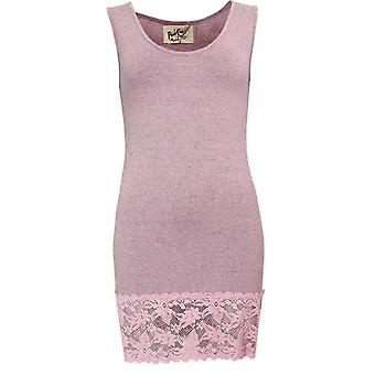 A Postcard from Brighton Sammy Pink Marl Lace Vest