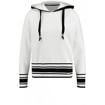 Taifun Off White Knit Hooded Jumper