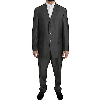 Z ZEGNA Gray  Two Piece 3 Button Wool  Suit -- KOS1062832