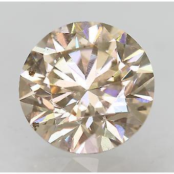 Cert 0.91 Karaat TL Brown VVS2 Ronde Brilliant Natural Loose Diamond 6.12mm 3EX